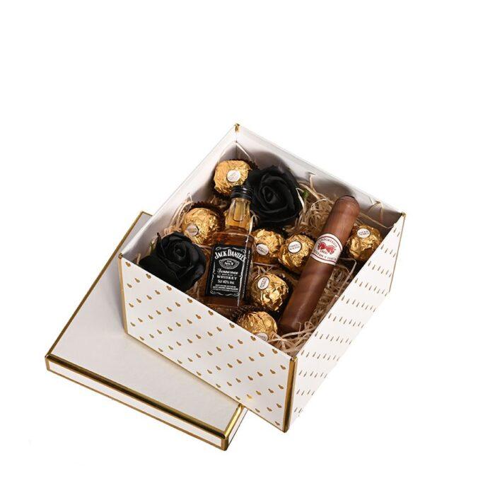 Whiskey és szivar ajándékbox